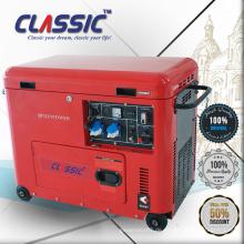 CLASSIC CHINA 4.2KW Elektrischer beweglicher Generator Digital Silent, Räder und Handgriff Schalldichter Diesel-beweglicher Generator