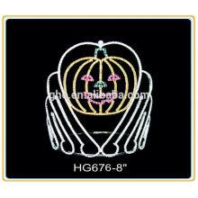 Fábrica de venda quente diretamente anéis de casamento em uma coroa
