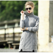 Women′s Pure Cashmere High Collar Sweater (13brdw140)
