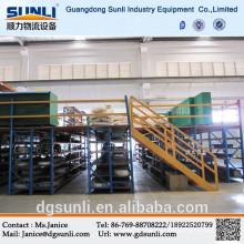 Plataforma de acero industrial de construcción mezzanine de tormento de la plataforma de la viga de caja