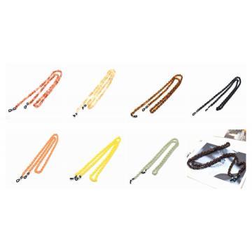 Gafas de acrílico retro con retenedor de cadena, gafas de sol, cuerda colgante, soporte para el cuello, lectura adecuada para mujeres y hombres