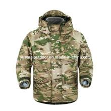 Militaire Multicamo Ecwcs Parka avec doublure détachable en molleton