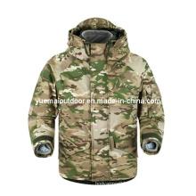 Military Multicamo Ecwcs Parka with Detachable Fleece Liner