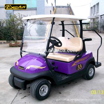O CE aprovou o carro de golfe bonde do carro do buggy do golfe da bateria de Trojan de 2 seater mini carro de golfe feito sob encomenda