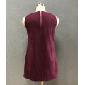 платье женское без рукавов из твида