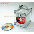 caja de aluminio DVD alta calidad CD 80 discos