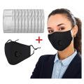 PM2.5 carvão ativado lavável algodão rosto cobrir