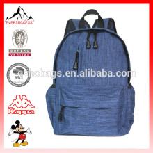 Lona alça de ombro mochila dia de viagem para a escola, ao ar livre, caminhadas e camping, saco de estudante