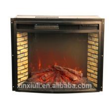IF-1523 Gekrümmter Stahl dekorativer elektrischer Kamineinsatzheizung