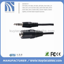 3.5mm male female stereo extension cable 5ft black