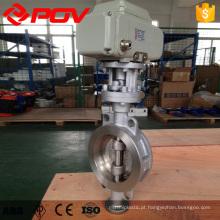 válvula de borboleta de vedação de metal de conexão de bolacha de alta qualidade