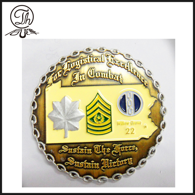 Gold US Homeland Security badge metal