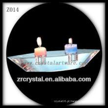 Suporte de vela de cristal popular Z014