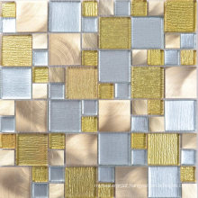 Sweden Style Apartment Bathroom Glass Aluminum Mosaic Tiles Price