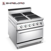 Elektrischer 4-Platten-Kocher der Serie 900 mit Ofen (Vierkantplatten)