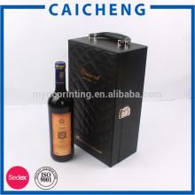 Coffret personnalisé de vin en bois de qualité oreiller