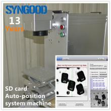 Auto-Position System Fiber laser micro sd memory card marking machine Syngood100*100MM 10W/ 20W /30W