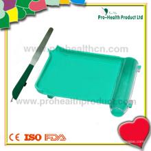 Plateau de comptage de pilules en plastique de pharmacie gaucher