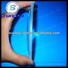 Lentilles planes convexes en verre de 200 mm