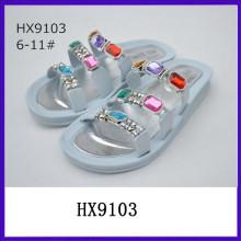 Sandalias coloridas de la señora de la manera del diamante sandalias de la suposición las más nuevas sandalias de las señoras diseña