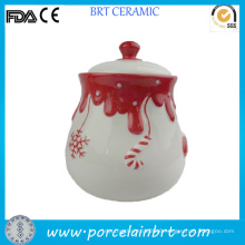 Christmas Decor Honey Milk Jar with Lid