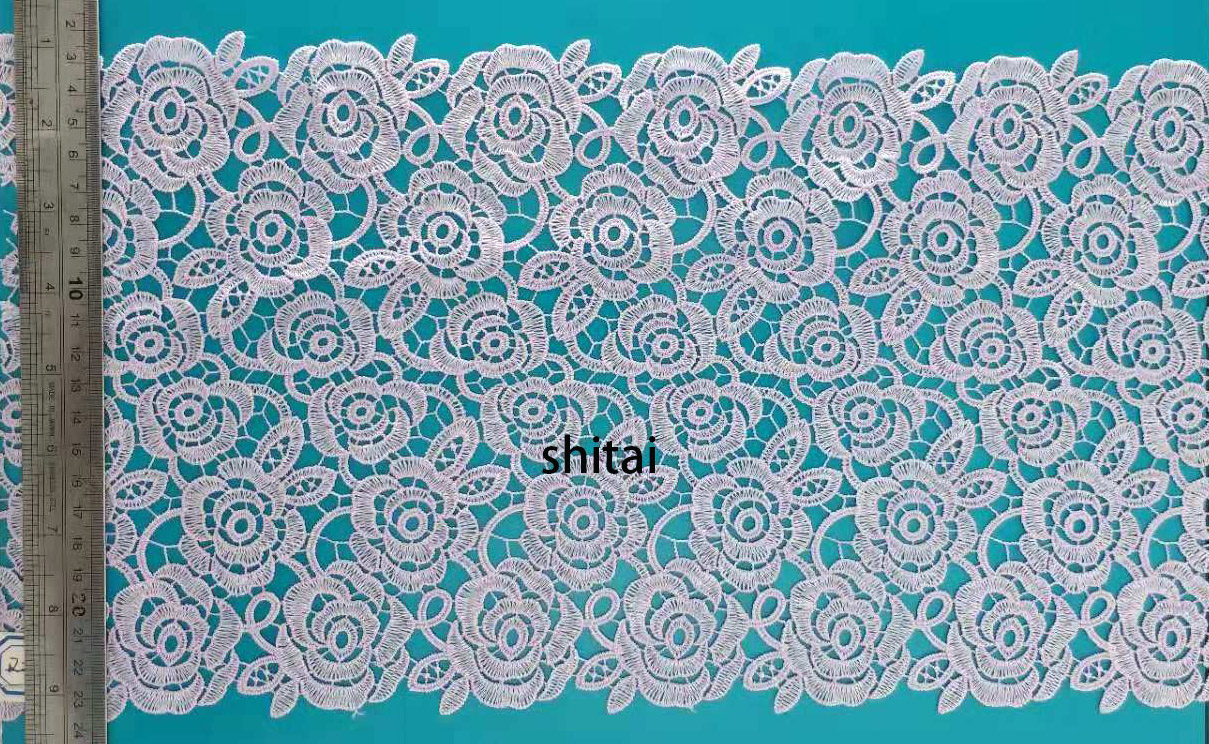 white tull lace