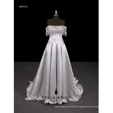 2017 New design Guangzhou supplier elegant evening dress long with off-shoulder