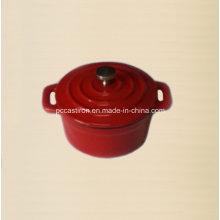 Esmalte de hierro fundido mini cazuela diámetro 10 cm