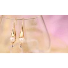 97350 Xuping moda novo design de jóias de ouro ródio cor pérola brincos bijuteria
