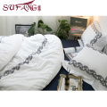 Luxury hotel Factory Directly High 100%cotton 60s frame embroidery sets wtite top 5 luxury 5 star hotel household home bedding s