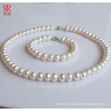 8-9mm AAA Weiß Original Perle Sets