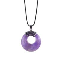 Colgante semiprecioso natural de la moneda Amethyst de la piedra preciosa para la joyería del collar