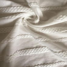 Jacquard cotton braided knitting fabric
