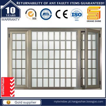 Janela de vidros duplos Janela de batente de alumínio / Janela de alumínio / janela com AS / NZS2208 Certificação