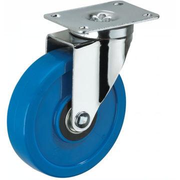Rodízio azul Biaxial de tamanho médio da roda de 3inch PVC