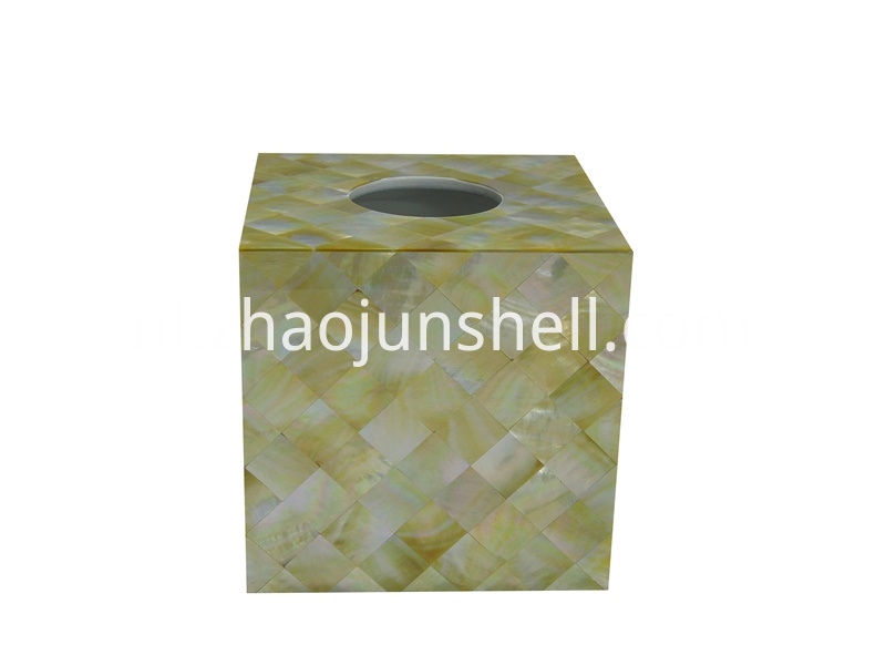 golden mother of pearl tissue box