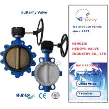 Top quality best selling popular d371 wafer butterfly valve with fluorine