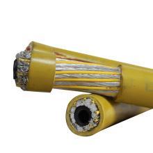 Couleur noire jaune ou comme nécessaire câble de soudure de Co2 de 70mm super flexible