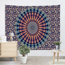 Bohemian Tapestry Mandala Wall Hanging Indian Style Boho Psychodeliczny Popularny gobelin do salonu Sypialnia Home Dorm Decor