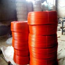 Fio de ferro galvanizado revestido vermelho do PVC