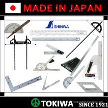Ferramentas e regras de medição precisas para uso em construção. Fabricado por Shinwa. Feito no Japão (régua de aço inoxidável 2m)