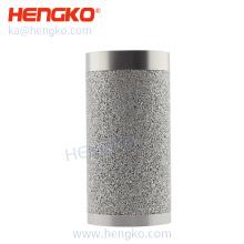 0.2um-90um Sintered Stainless Steel Candle Cylinder Filter For Gases And Liquids Filtration