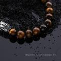 Stainless Steel Tiger Eye Stone Buddha Bracelet Jewelry