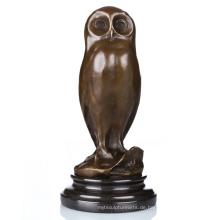 Tierheim Deko Vogel Metall Handwerk Eule Artware Messing Skulptur Statue Tpal-172