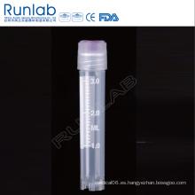 Vial criogénica de rosca externa de 3 ml con sello de arandela de silicona