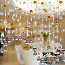 Decoração de casa quente decoração cortina cortina de cristal acrílico elegante