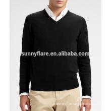 Camisola de cashmere ajustada para homens de malha de alta qualidade