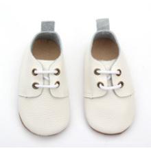 Großhandel Kleinkind Kinder Kinder echtes Leder weiße Schule Schuhe