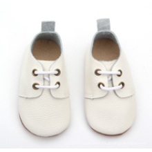 Enfants en gros enfant enfants enfants cuir véritable chaussures école blanche