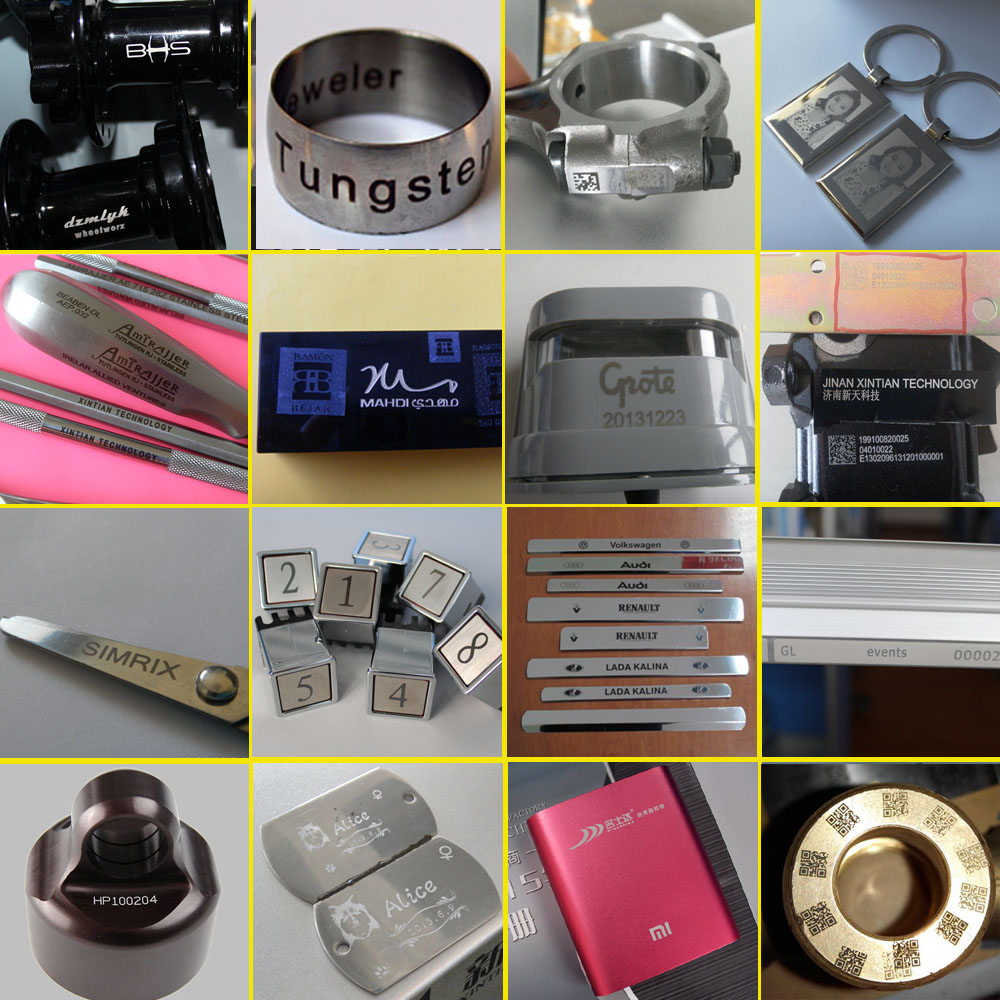 Metal Laser Marking Samples 1